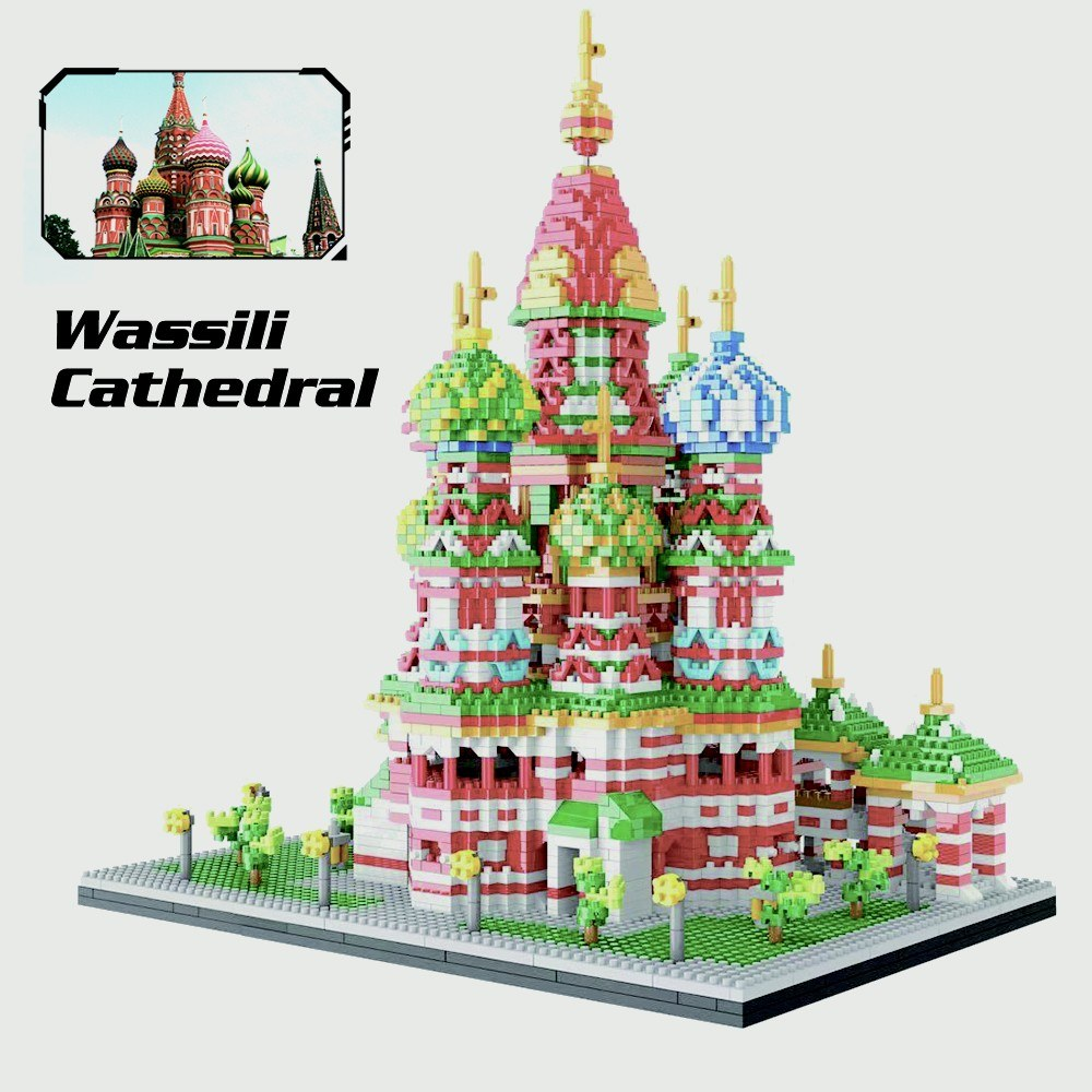 9918 Model Wassili Cathedral Atomic Building Blocks Kit 4650pcs Gift Toy for Kids