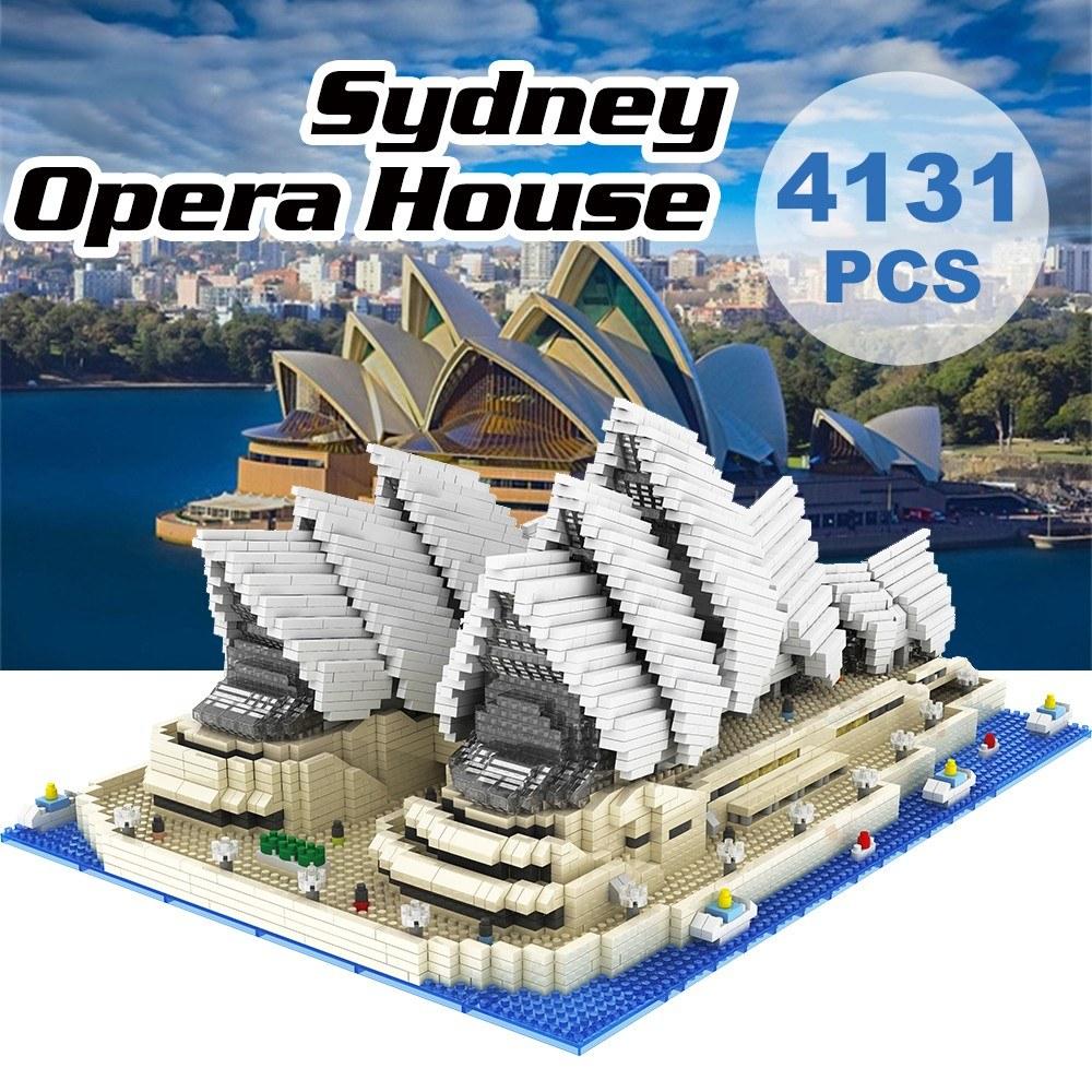 9916 Model Sydney Opera House Atomic Building Blocks Kit 4131pcs Gift Toy for Kids