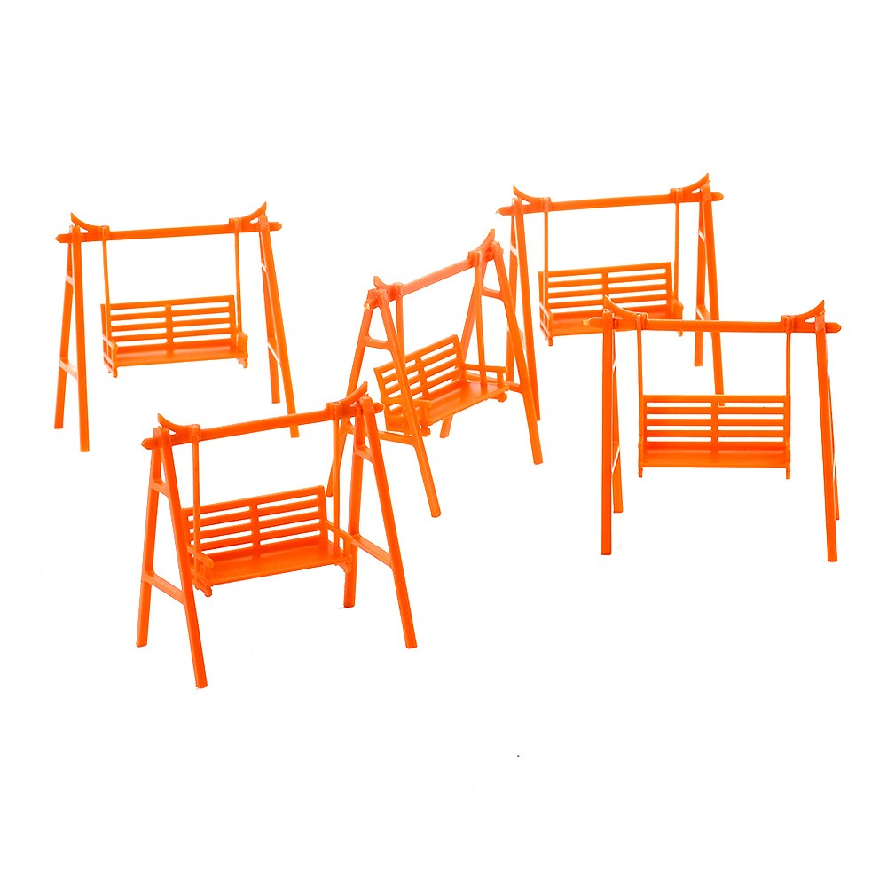 5Pcs DIY Sand Table Model House Material Outdoor Garden Miniature Landscape Swing Chair Model