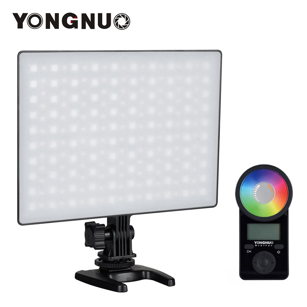 YONGNUO YN300 Air II LED Video Light Panel RGB 3200K-5600K Photography Fill-in Lamp 10 Lighting Effects CRI 95+ with Remote Control for Studio Outdoor Wedding Portrait  Photography