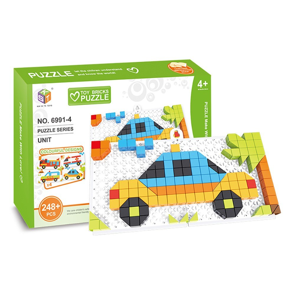 4 in 1 Bricks Puzzle Toy Building Blocks for Toddlers Educational Toys for Kids Special Vehicles Models Bricks Toys Gift for Kids