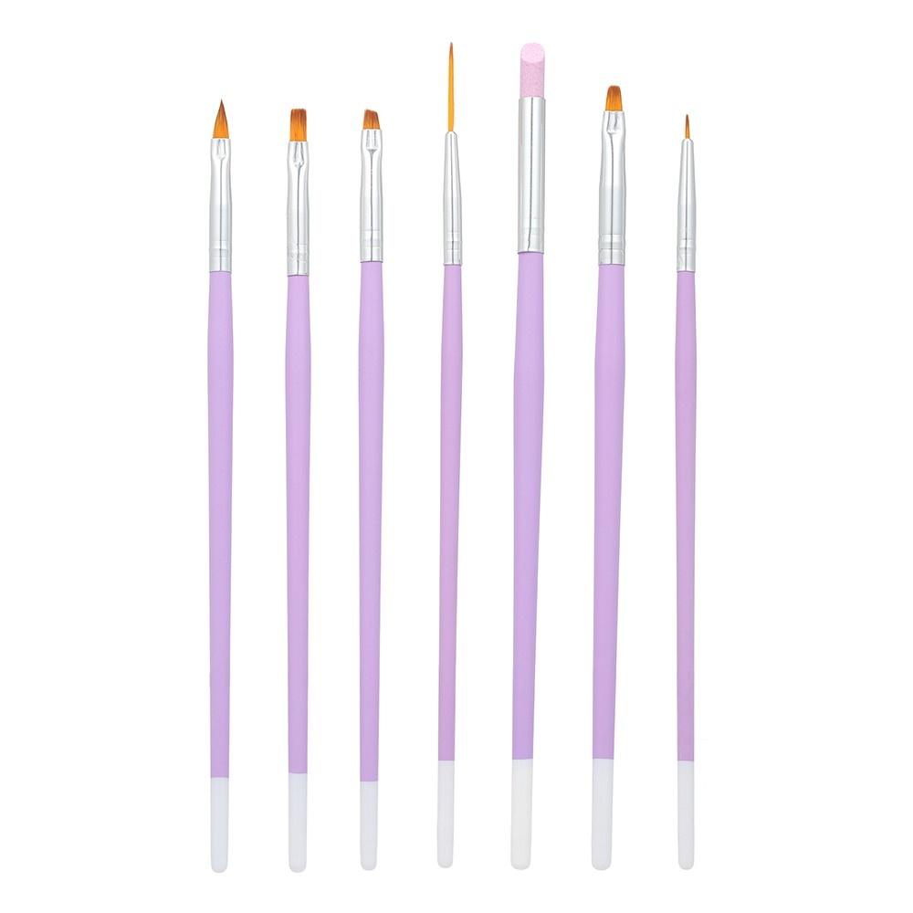 7 Pieces Nail Art Pens Kit Nail Liner Brushes Gel Painting Acrylic Nail Brush Nail Skin Remover Pen Nail Tools