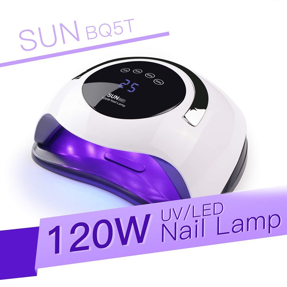BQ5T 120W UV LED Nail Lamp Nail Dryer Drying for Manicure Gel Nail Lamp Drying for Gel Varnish LCD Screen Nail Dryer