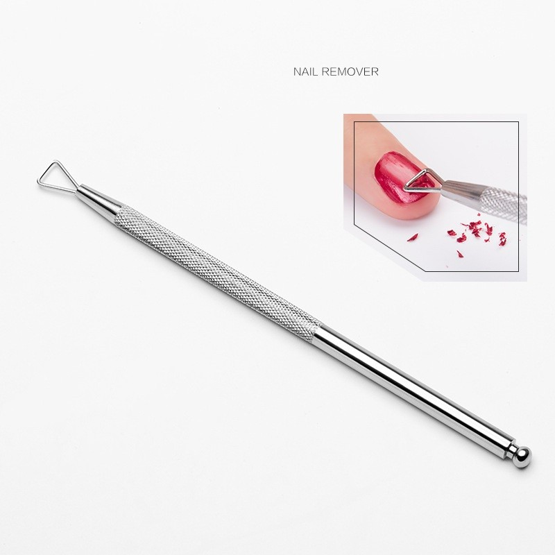 Double-ended Cuticle Pusher & Cutter Professional Stainless Steel Cuticle Remover & Cutter Manicure and Pedicure Tool for Fingernails & Toenails