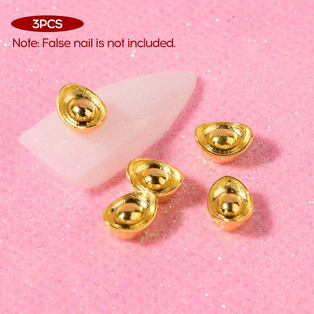 Nail Jewelry Zircon Luxury New Year Diamond Nail Sticker Lucky Character Lucky Cat Mouse Bag Chain Nail Diamond Jewelry