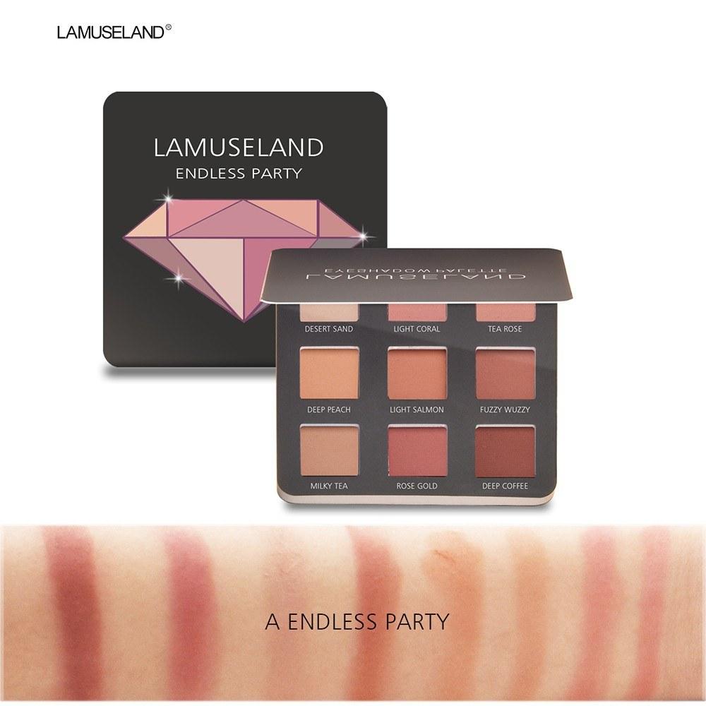 La Museland / LAMUSELAND 3 Style 9 Color Shiny Diamond Eyeshadow Palette Matte Eyeshadow # LA33