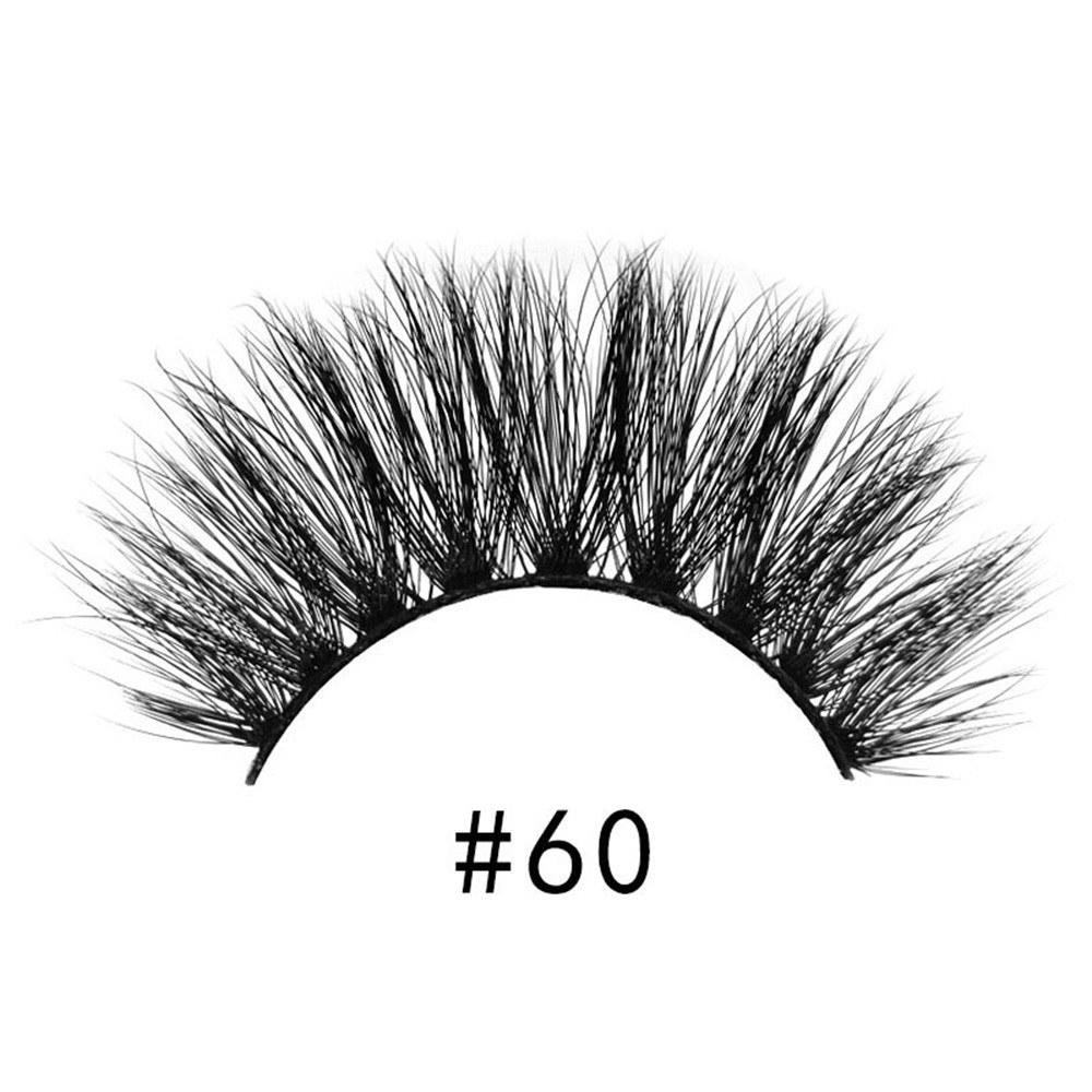 Shi Di Shangpin high quality 3d mink eyelashes 1 pair of natural thick fake eyelashes new products # 60