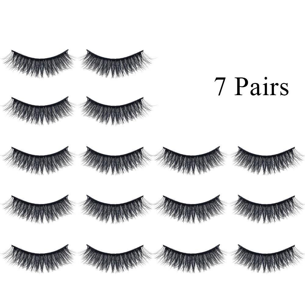 7 Pairs Natural False Eyelashes Fake Lashes Long Makeup Mink Lashes Eyelash Extension Mink Eyelashes