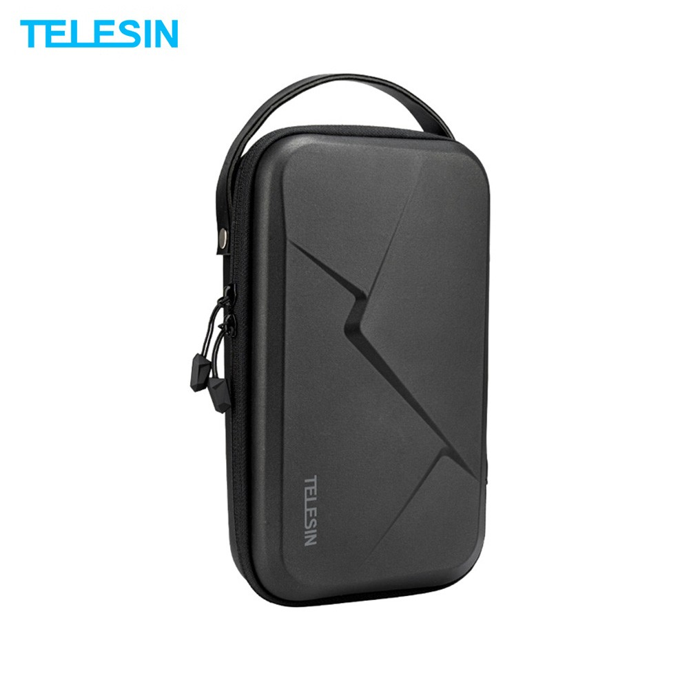 TELESIN Portable Storage Bag Waterproof EVA Carrying Case DIY Storage Box Compatible with DJI OSMO Action OSMO Pocket GoPro Hero 8/7/6/5 Action Camera and Related Accessories