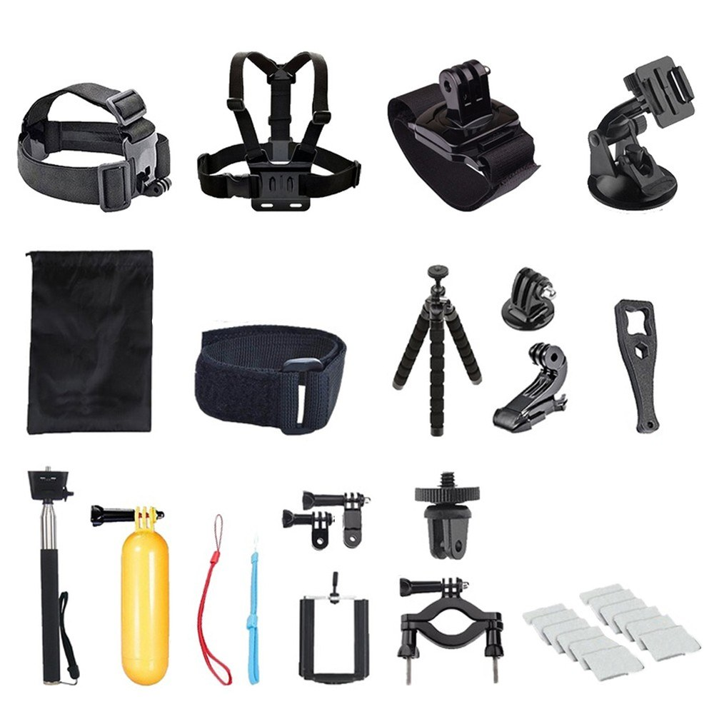 29pc Chest Strap Mount Belt for Gopro Hero Action Camera Chest Mount Harness for GoPro SJCAM SJ4000 Sport Cam Fix