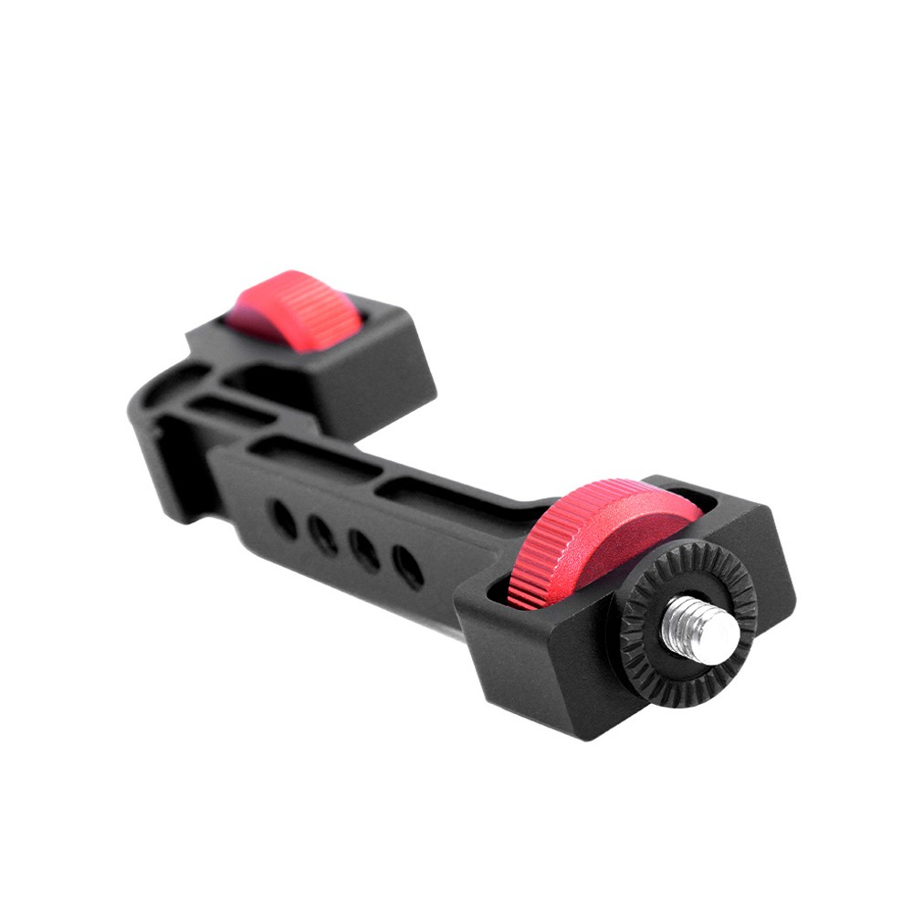 Gimbal Stabilizer Rotatable Extension Bracket Holder Support with 1/4 Inch Screw Cold Shoe Mount for Mounting Monitor Microphone LED light Compatible with DJI Ronin S/SC zhiyun Weebill S/Lab/Crane 3
