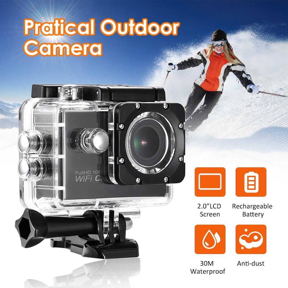 "Outdoor 2.0"" LCD Screen 1080P High Definition Camera Scouting Video Camera Supported 32G(Max.) T-F Card Waterproof Design for Sport Cycling"