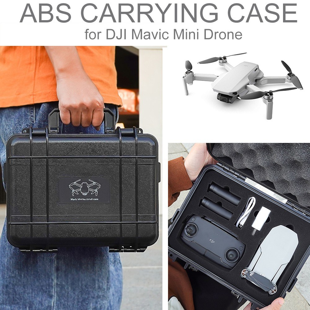 Compatible with DJI Mavic Mini Drone STARTRC Watertight Carrying Case Waterproof Portable Case Hard Drone Storage Case