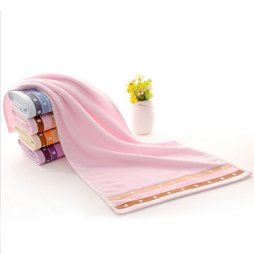 1Pcs Towel Simple Solid Color Thick Home Use Towel Gift Towel 73*35cm