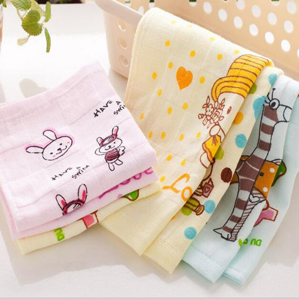 1Pcs Mini Face Towel Cartoon Lovely Pattern Supper Comfortable Square Towel 27*27cm