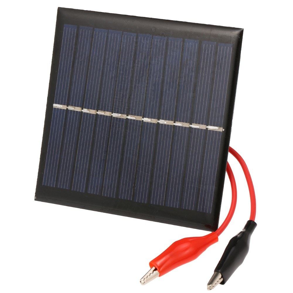 1W/5.5V Portable Solar Charger With Alligator Clip Compact Solar Panel For Garden/Traffic/Emergency Light Solar Pump Outdoor Advertisement 3.7V Battery