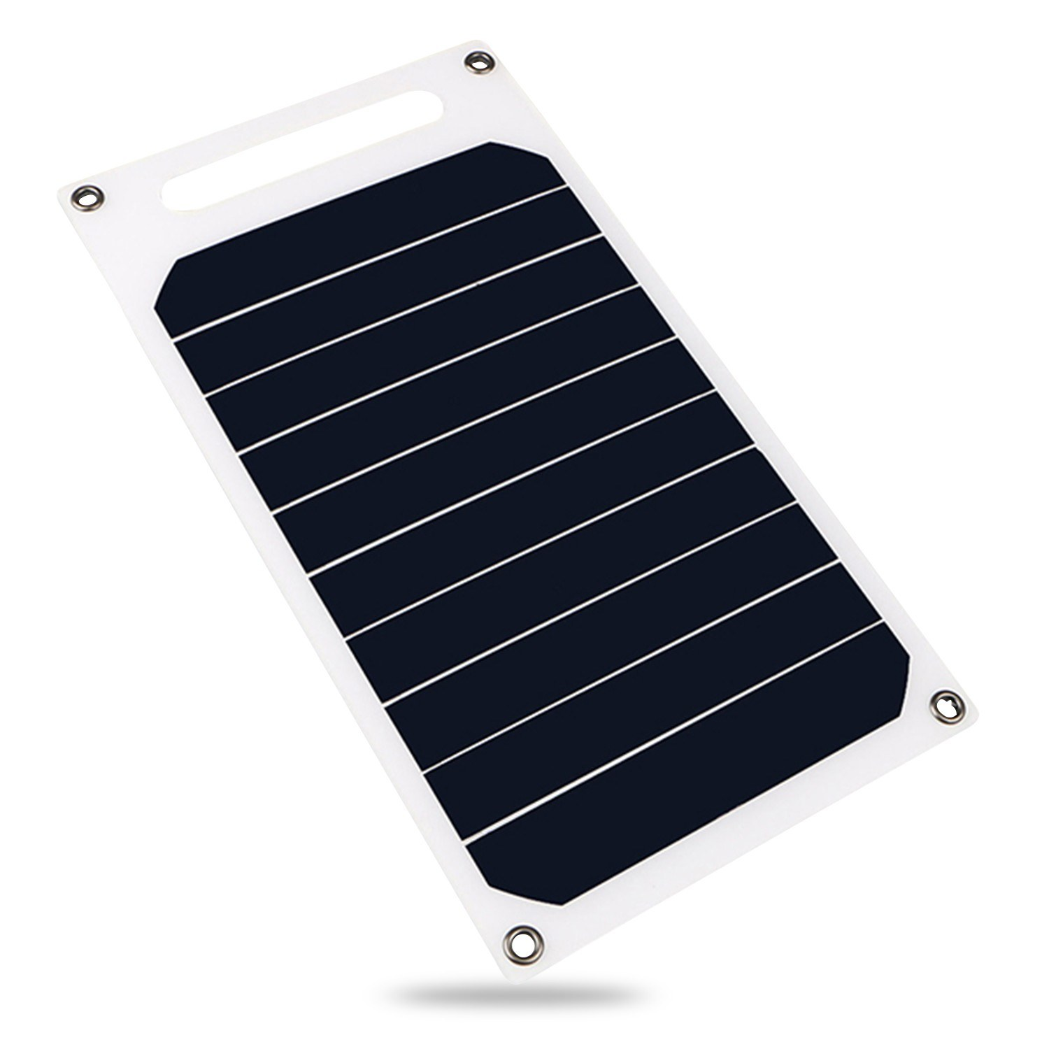 6W 5V Solar Panel with USB Port Monocrystalline Silicon Solar Cell for Outdoor Camping Climbing Hiking Travel Compatible for iPhone Smartphones