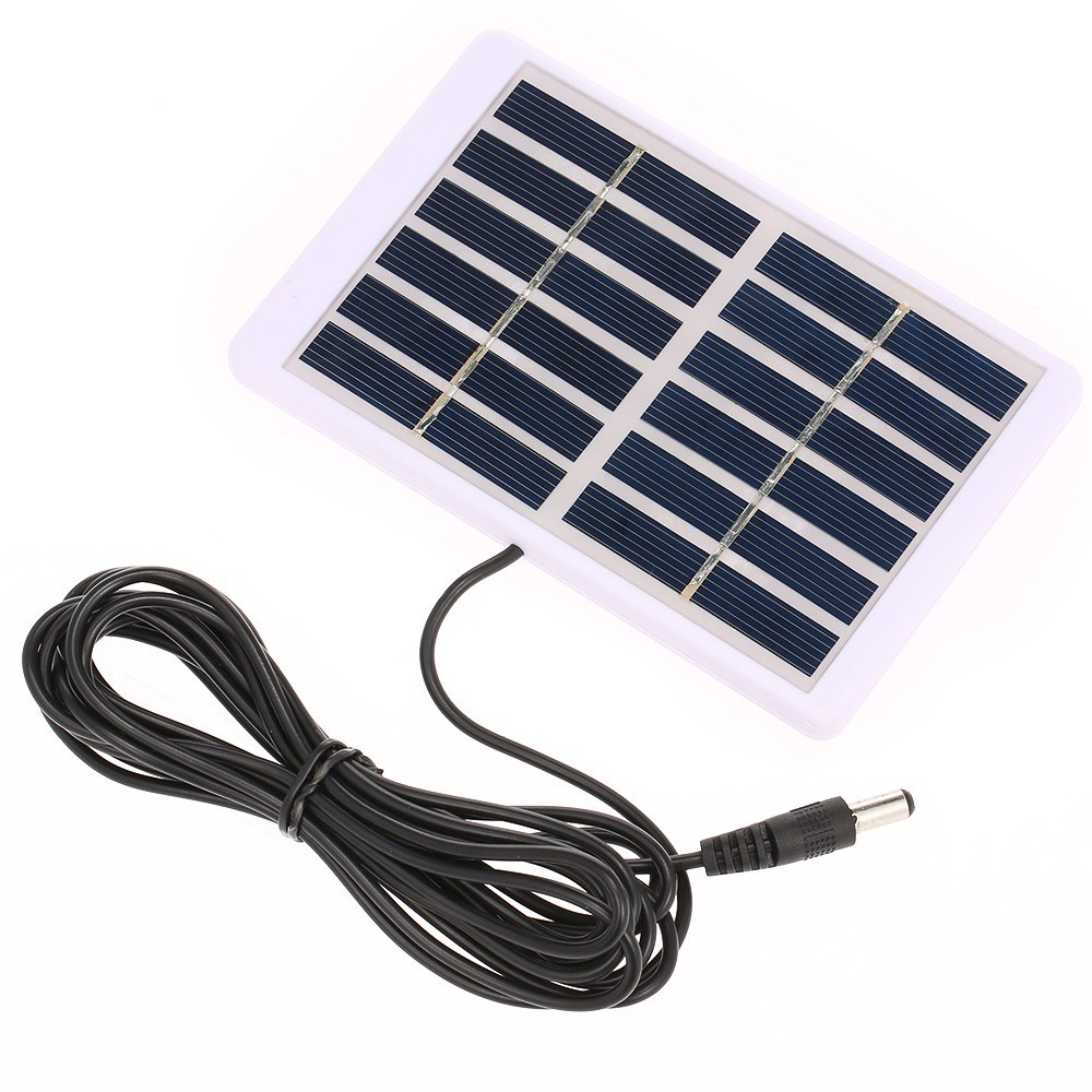 Solar Charger 1.2W/6V With 5521 DC Output 3M Cable Battery Charger Polycrystalline Solar Panel 84*130mm For Garden/Traffic/Emergency Light Solar Pump