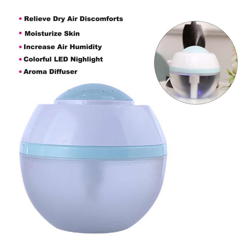 Mini Air Humidifier USB Aroma Essential Oil Diffuser with 7 Color Changing LEDs Nighlight for Home Office