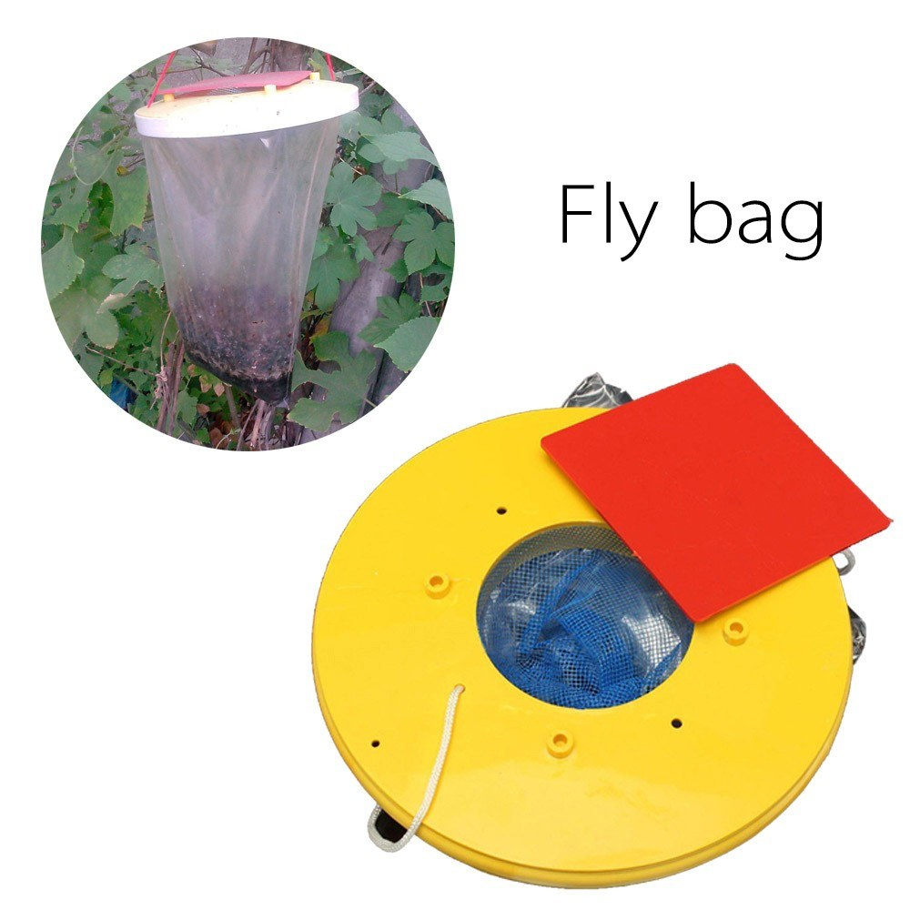 Outdoor Hanging Type Fly Attracting Bag Useful Flies The Ultimate Red Drosophila Fly Wasp Insect Bug Killer Trap Flies Away For Home Hanging Garden Tools