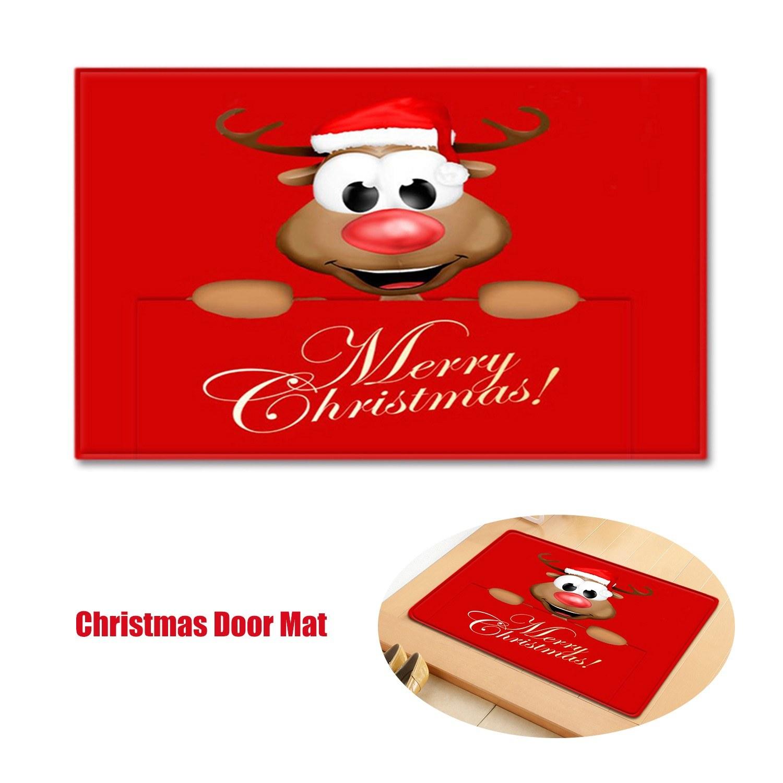 Christmas Style Carpet Door Mat Floor Rug Non-slip Mat Merry Christmas Home Decoration Doormat 400*600mm