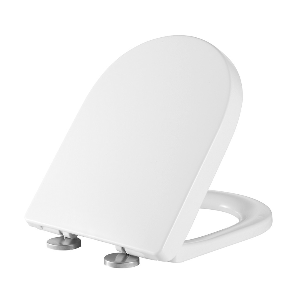 Round Toilet Seat Brand New Material No Smelling Easy to Install & Clean Quiet Close Toilet Seats with Lid Adjustable Distance Fits Most Standard Toilets
