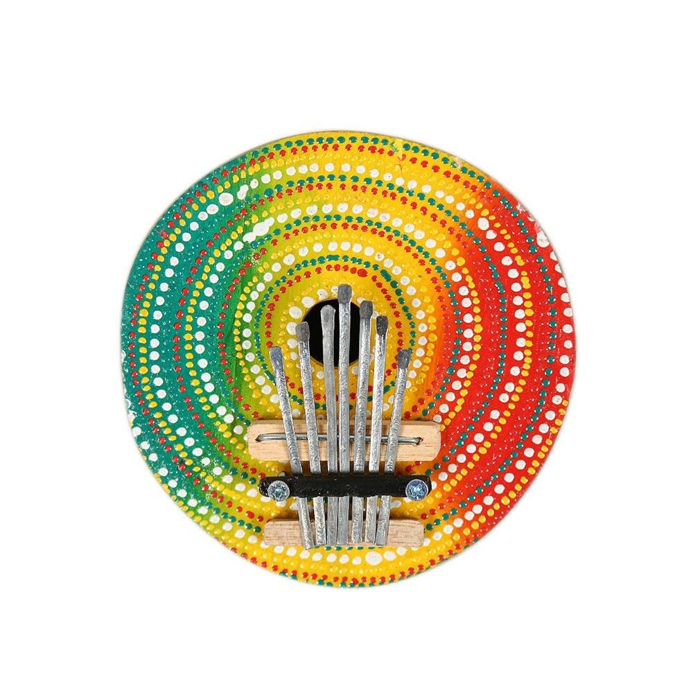 7 Keys Coconut Case Painted Keyboard Kalimba Thumb Finger Piano Wood Kalimba Portable Musical Instrument