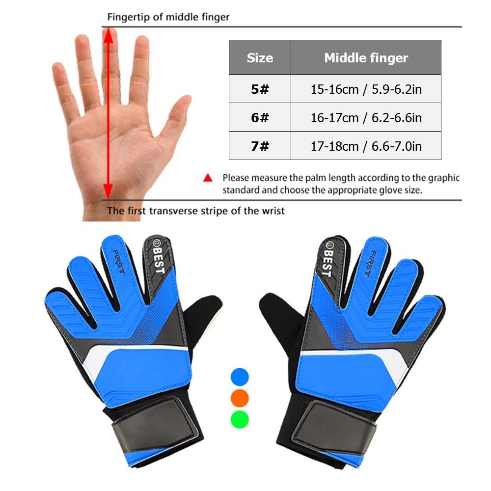 Kid's Goalkeeper Gloves Finger Protection Latex Soccer Goalie Gloves Teenagers Breathable Sports Gloves