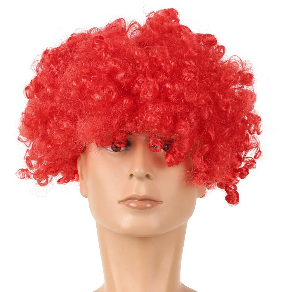 Soccer Fans Wig Explosion Curly Hairpiece