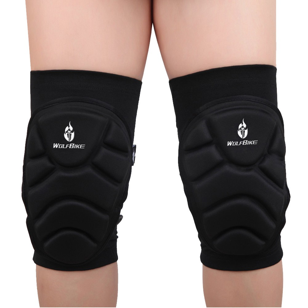 2Pcs Wolfbike Breathable Elastic Knee Pads Football Basketball Sports Leg Sleeve Kneepad Protector