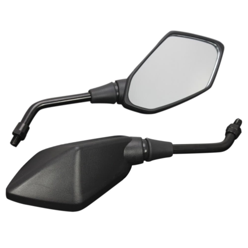 1 Pair Universal Motorcycle Scooter Aluminum Alloy Rearview Side Mirror Modified Accessories for 8mm 10mm Exterior Diameter Handlebar Street Cars Scooters