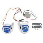 2PCs 12V 120DB Digital Electric Loud Air Horn 20 Sounds Car Truck Motorcycle
