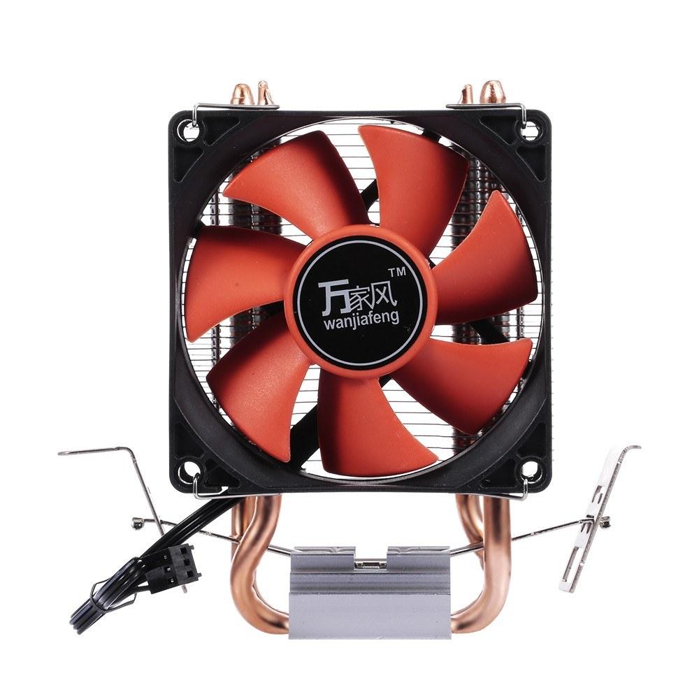 Hydraulic CPU Cooler Heatpipe Fans Quiet Dual Tube Heatsink Radiator for Intel /AMD