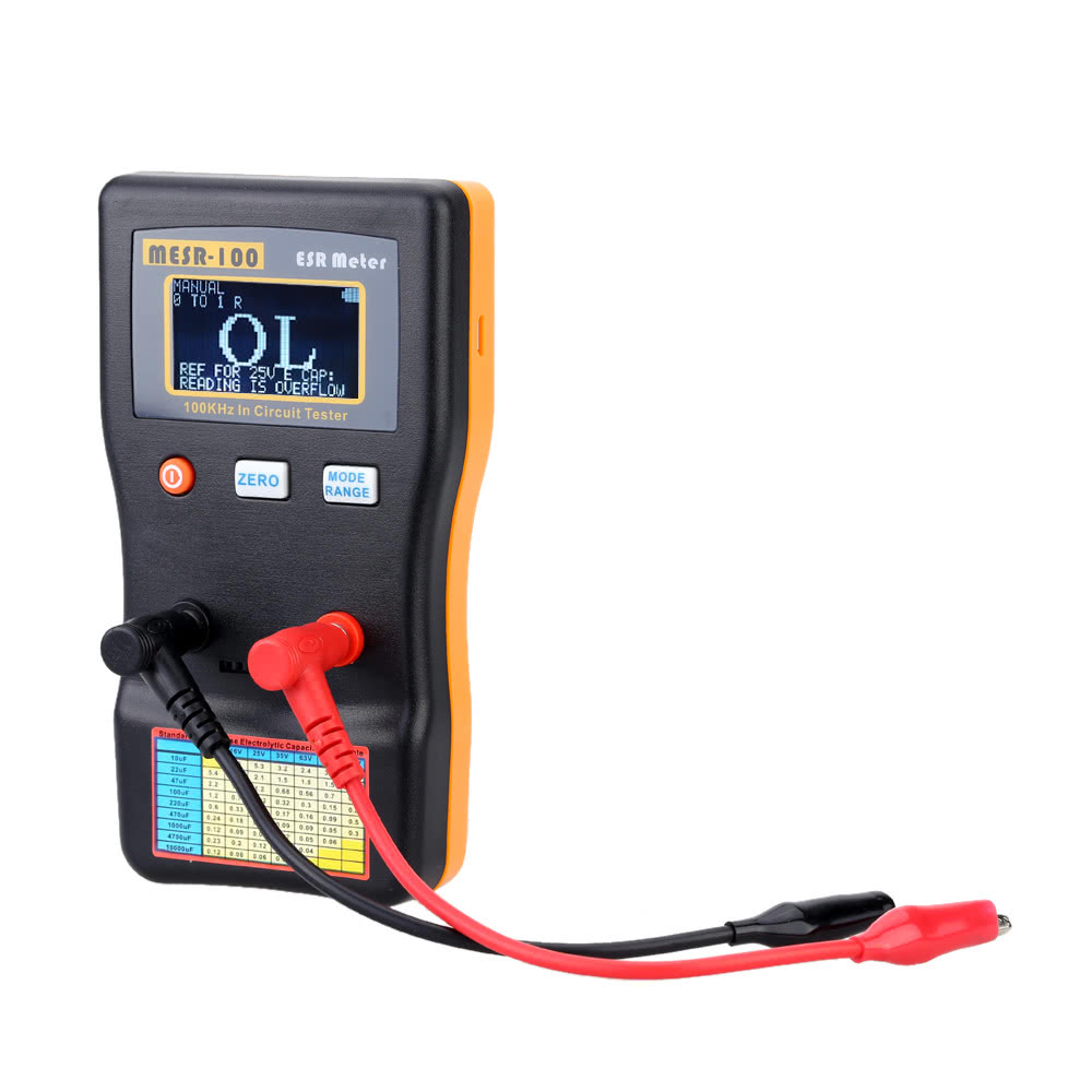 MESR-100 ESR Capacitance Ohm Meter Professional Measuring Capacitance Resistance Capacitor Circuit Tester
