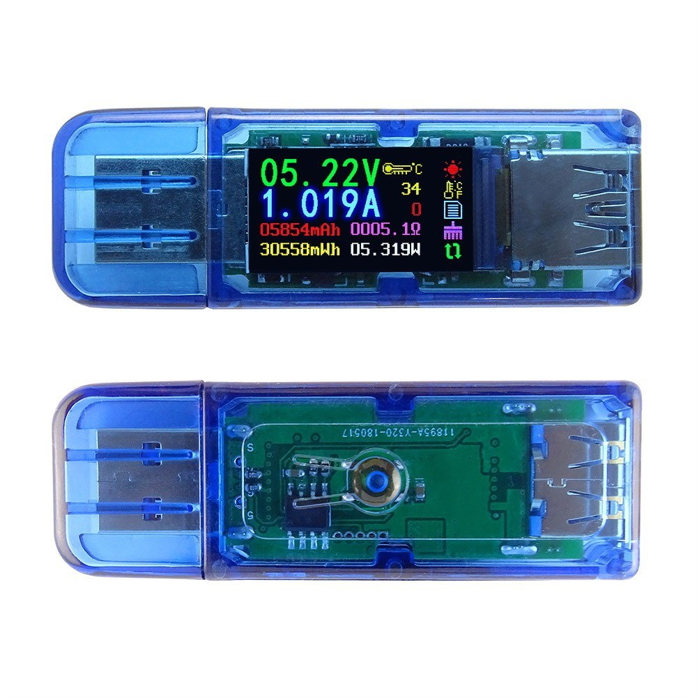 USB3.0 Color LCD Display Voltage Current Power Battery Charge Measuring Meter Multifunctional USB Tester