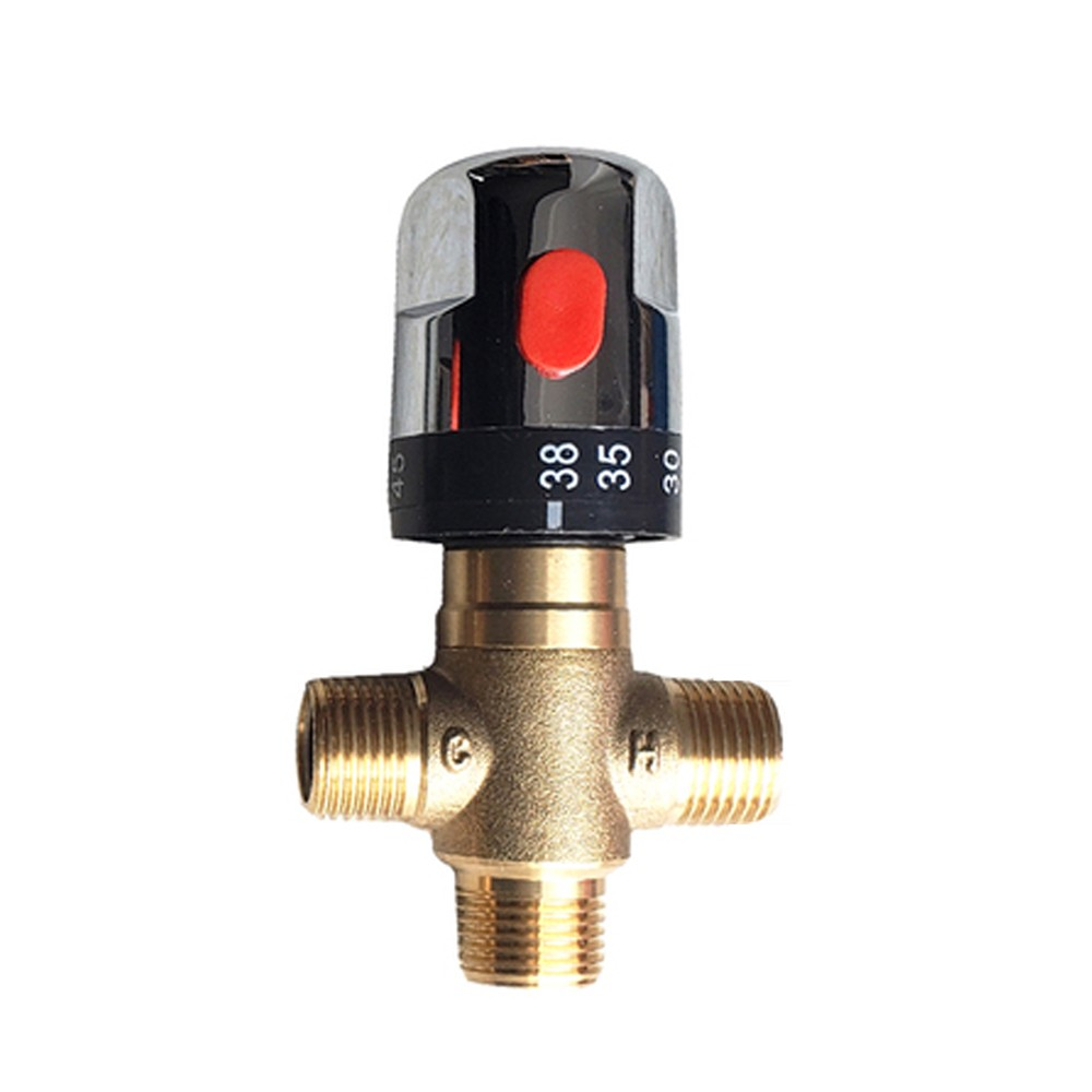 Constant Temperature Pipeline Valve 3-way Criss-cross Connector All Copper Body Water Heater Connectors Moisture Device