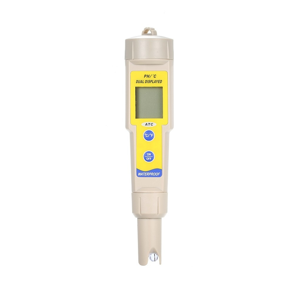 Portable IP56 Waterproof pH Meter Water Quality Detector Analyzer Digital pH Tester with ATC Automatic Temperature Compensation Function