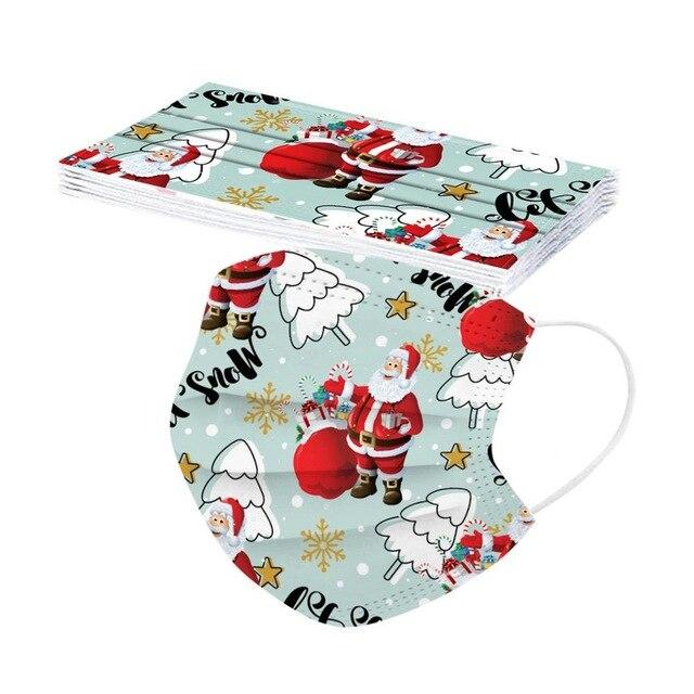 10片圣诞口罩一次性圣诞老人