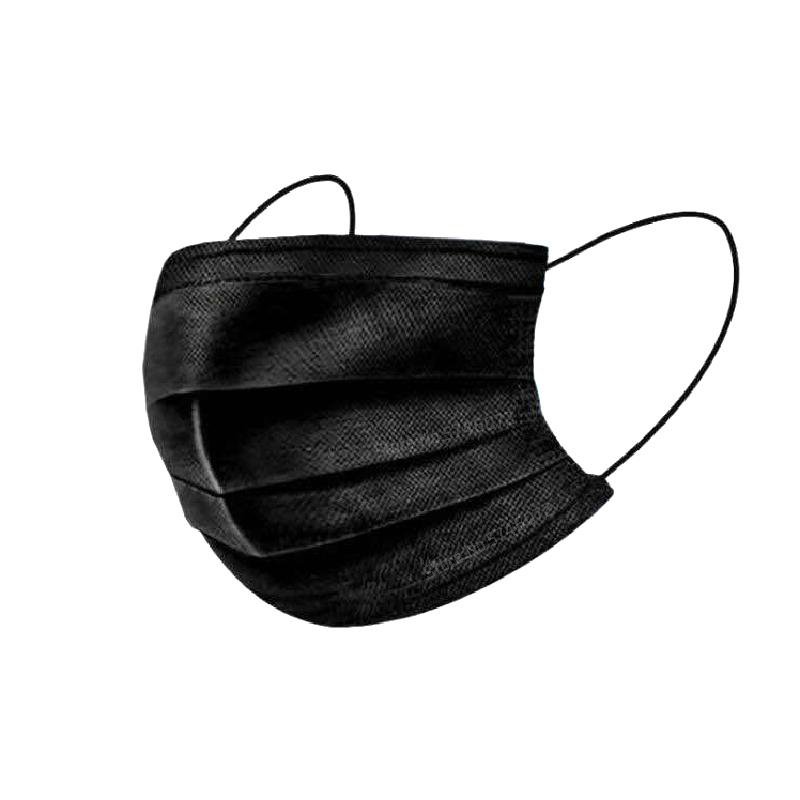 10//50/100pcs Disposable Masks Non-woven Mouth Masks 3 Layer Ply Filter Anti Dust Breathable Adult Face Mask Black Mascarillas