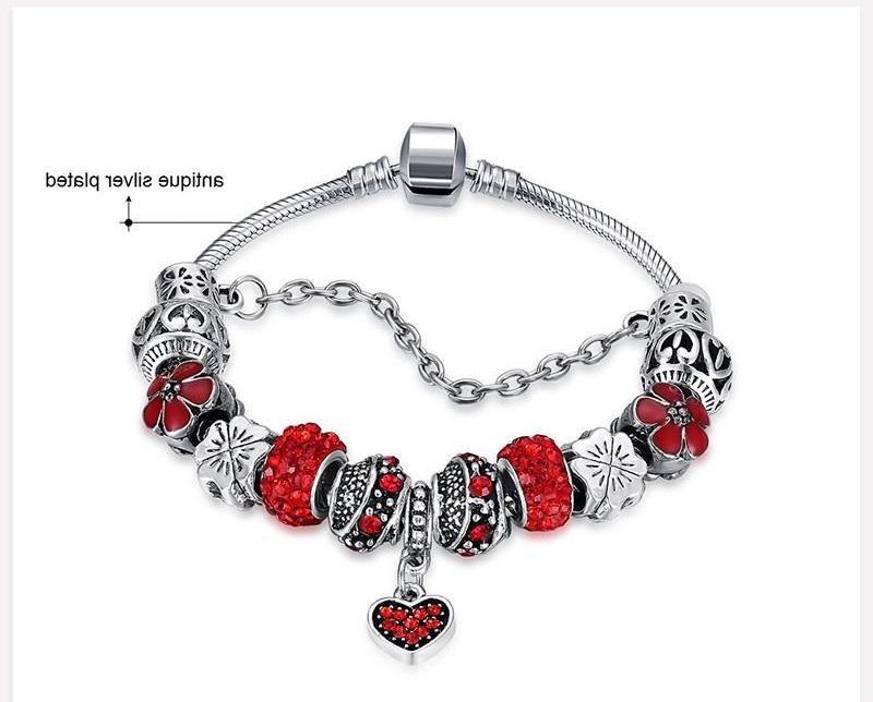Exquisite Fashion Bracelet DIY 3 Colors Love Heart Bracelet Ladies Fashion Bracelet